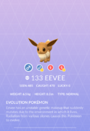 Eevee Pokedex