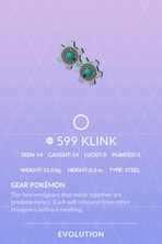 Klink Pokedex