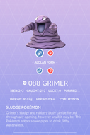 Grimer Pokedex