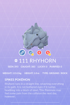 Rhyhorn Pokedex