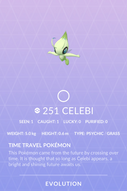 Celebi Pokedex
