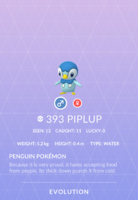 Piplup Pokedex