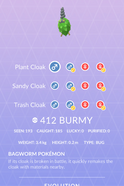 Burmy Pokedex