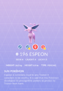Espeon Pokedex