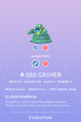 Grimer Alolan Pokedex