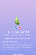 Metapod Pokedex