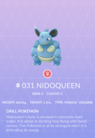 Nidoqueen Pokedex