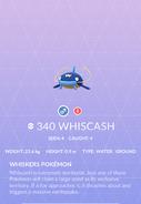 Whiscash Pokedex