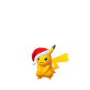 Pikachu female festive shiny