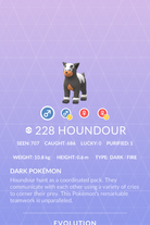 Houndour Pokedex