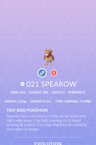 Spearow Pokedex