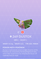 Dustox Pokedex