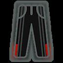 Pants M Black Red