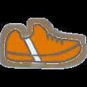 Shoes F Orange Stripe