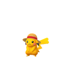 Pikachu female straw hat shiny
