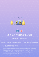 Chinchou Pokedex