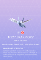 Skarmory Pokedex