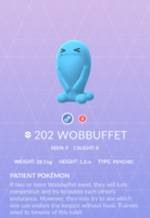 Wobbuffet Pokedex