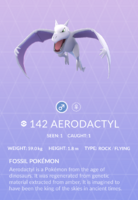 Aerodactyl Pokedex