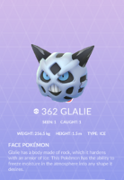 Glalie Pokedex
