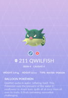 Qwilfish Pokedex