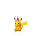 Pikachu female party hat shiny