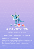 Vaporeon Pokedex