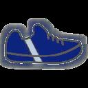 Shoes F Blue Stripe