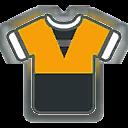 Shirt F Orange Black