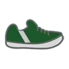 Shoes M Green Stripe