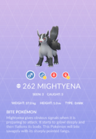 Mightyena Pokedex