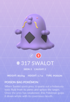 Swalot Pokedex