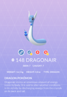 Dragonair Pokedex