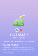 Gulpin Pokedex