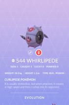 Whirlipede Pokedex