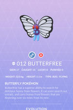 Butterfree Pokedex