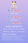 Meowth Pokedex