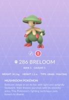 Breloom Pokedex