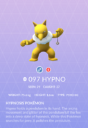 Hypno Pokedex