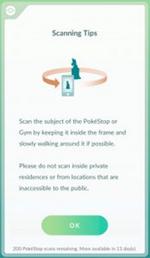 PokéStop scanning tips