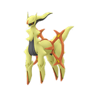 Arceus fighting shiny