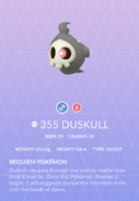 Duskull Pokedex