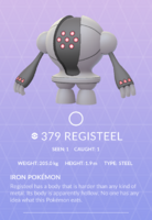 Registeel Pokedex