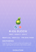 Budew Pokedex