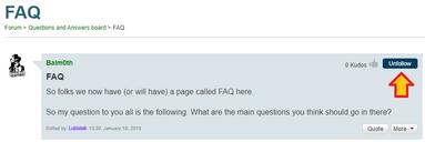 How to unfollow forum thread