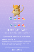 Raticate Pokedex