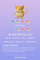 Raticate Pokedex