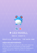 Marill Pokedex