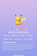 Pikachu Pokedex