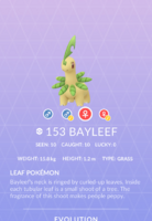 Bayleef Pokedex